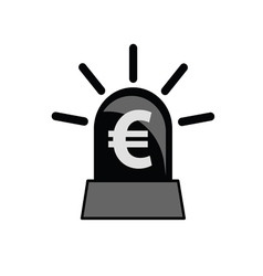 euro sign black and white vector image
