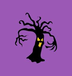 Evil halloween tree vector