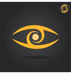 Eye logo sign vector image