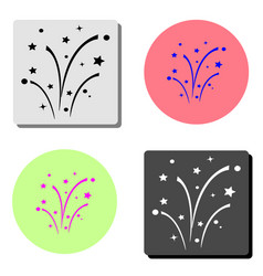 fireworks flat icon vector image