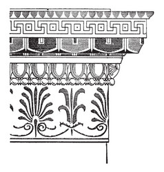 Greek decoration on pinterest vintage engraving vector