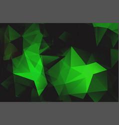 green polygonal shape background vector image