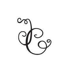 Handwritten monogram jc icon vector