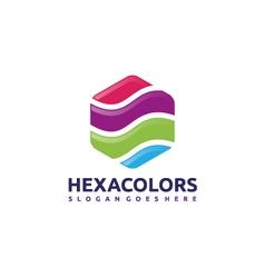 Hexagon Colors Logo vector