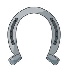 Horseshoe luck metal wild west icon vector