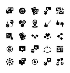 icon set social networks in flat style vector image