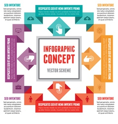 Infographic Concept - Abstract Scheme vector