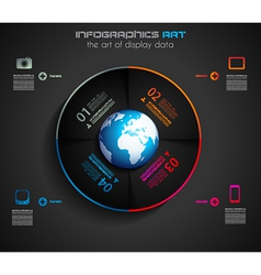 Infographic layout template vector image