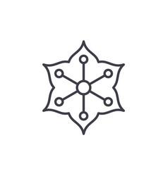 jasmine line icon concept jasmine flat vector image