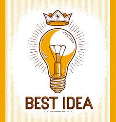 Light bulb lamp creative idea concept logo or vector