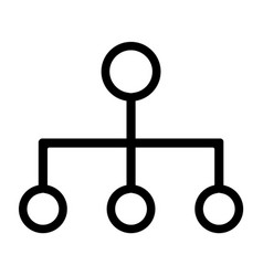 Line chain of command icon vector