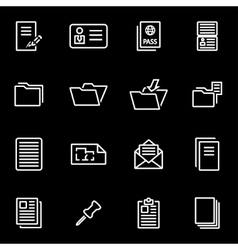 Line document icon set vector
