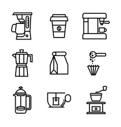 lineal coffee vector image