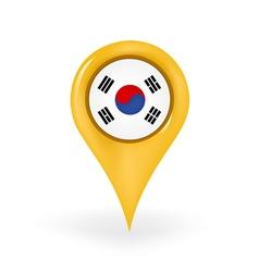 Location South Korea vector