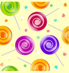 Lollipop seamless pattern vector
