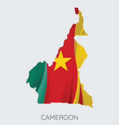 map cameroon vector image