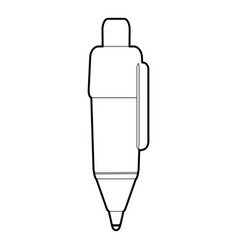 marker pen icon outline style vector image