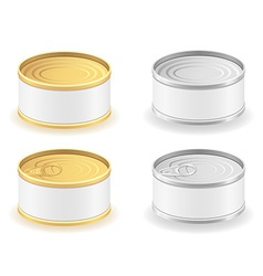 Metal tin can 04 vector