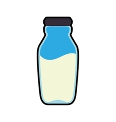 Milk bottle healthy food organic food market icon vector