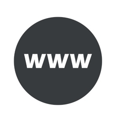 Monochrome round WWW icon vector