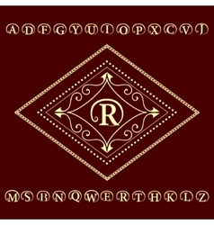 Monogram design elements English letters emblem vector