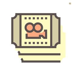 movies ticket icon design 48x48 pixel perfect vector image
