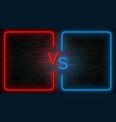 neon versus label template vector image