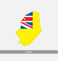niue map flag vector image