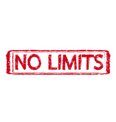 no limits grunge rubber stamp vector image