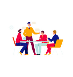 Office discussion people composition vector