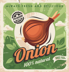Onion poater vector