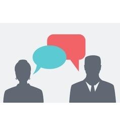 People icons speak vector
