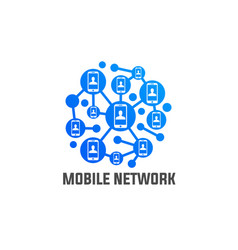 phone mobile network connection vector image