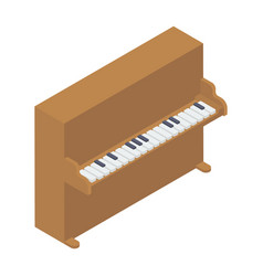 Piano table vector