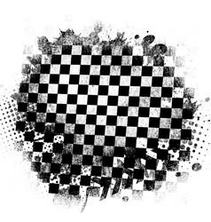race flag grunge pattern on white vector image