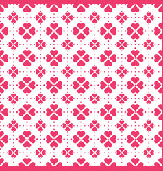 red heart shape flowers seamless pattern vector image