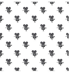 Retro camera pattern vector