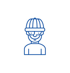 robber line icon concept robber flat vector image