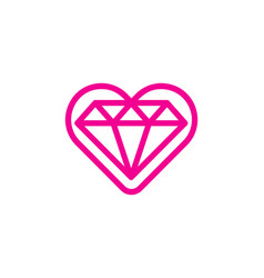 romance diamond logo icon design vector image