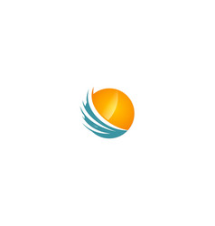 round sphere abstract technology company logo vector image