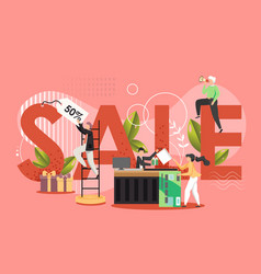 sale concept flat style design vector image