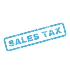 Sales tax rubber stamp vector