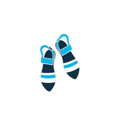 Sandals icon colored symbol premium quality vector