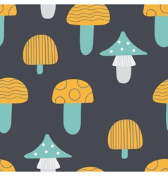 Seamless pattern of mushroom vector