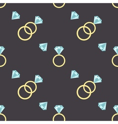 seamless pattern with diamonds and luxury golden vector image