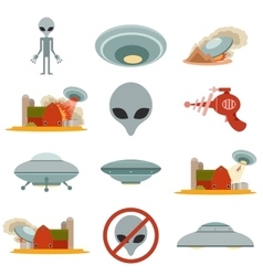 Set of alien invasion vector