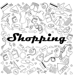 Shopping coloring book vector