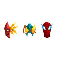 Superhero mask worn on face heroic character vector