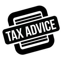 Tax advice black stamp vector