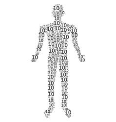 Ten digits text human figure vector